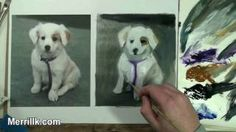 Learn Oil Painting 1/2: How to Paint a Puppy Dog, via YouTube.