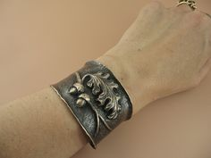 Bronze Oak and Acorn Cuff Bracelet - chasing and repousse. by Kirsten Skiles, Knit steel on Flickr - beautiful!!