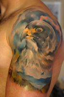 Peregrine falcon tattoo by grimmy3d