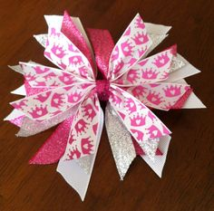 Disney Princess Bow Pink by claudiasspecialties on Etsy, $5.99