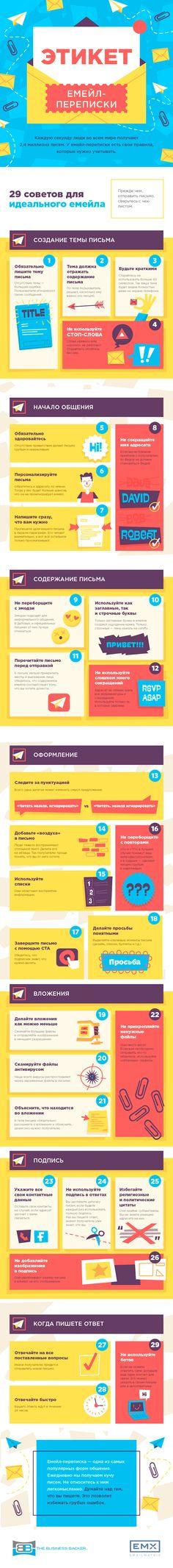 Рассказываем о правилах емейл-переписки, о которых нельзя забывать. #EMAILMATRIX #emailmarketing #infographic
