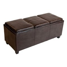 $226.00  Avalon Collection Large Storage Ottoman with Three Serving Trays  The Avalon Storage Ottoman with three serving trays is a practical and functional ottoman that enhances any home.