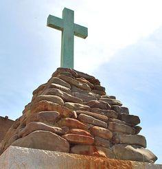'Cross' honors Newport on Canal Walk River Stones, Blue Heron, Metal Buildings, Newport, Virginia, Walking, Island, Adventure, Family History