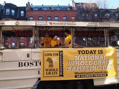Duck Boat is ready for Wholegrain Sampling Day in Boston.