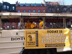 Duck Boat is ready for Wholegrain Sampling Day in Boston.