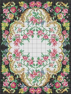 Floral designs for Smyrnalaine wool and Paternayan Wool latch hook rugs Cross Stitch Rose, Cross Stitch Borders, Cross Stitch Embroidery, Tapete Floral, French Flowers, Latch Hook Rugs, Cross Stitch Pictures, Beaded Bracelet Patterns, Rug Hooking