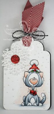 One Happy Stamper...: TAG Handmade Christmas Crafts, Christmas Tag, Christmas Projects, Christmas Ornaments, Handmade Gift Tags, Holiday Gift Tags, Christmas Paintings, Paper Tags, Xmas Cards