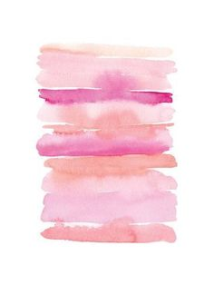 Art Print: Abstract Pink Stripes by Elise Engh : 24x18in