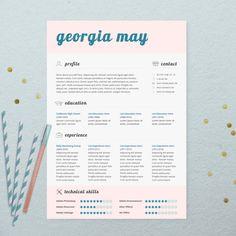 INSTANT DOWNLOAD CV Design Printable Resume by BrandConceptCo, $11.00