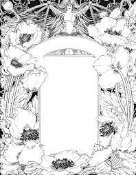 Image result for art nouveau frames and borders