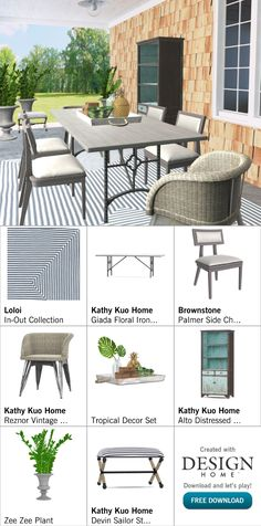 Created with Design Home! Outdoor Furniture Sets, Outdoor Decor, Tropical Decor, House Design, Patio, Create, Home Decor, Decoration Home, Room Decor