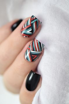 Marine Loves Polish: Graphic lines - graphic water decals nails
