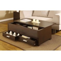 "storage coffee table. $209 brooks stone 47"" long"