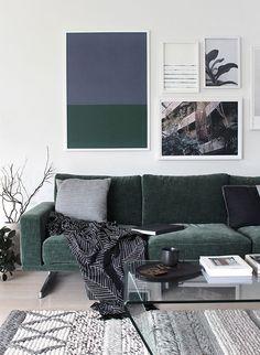 Fancy green velvet