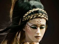 Halloween, pretty warrior makeup (Katy Perry).