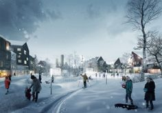 City of Kiruna, Sweden to Begin Two Mile Relocation City park during the winter.