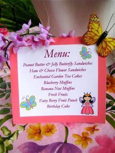 Image result for Little Girl Tea Party Menu
