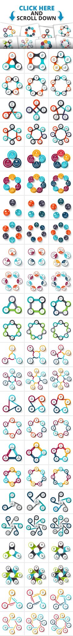 Circle infographic templates by Abert