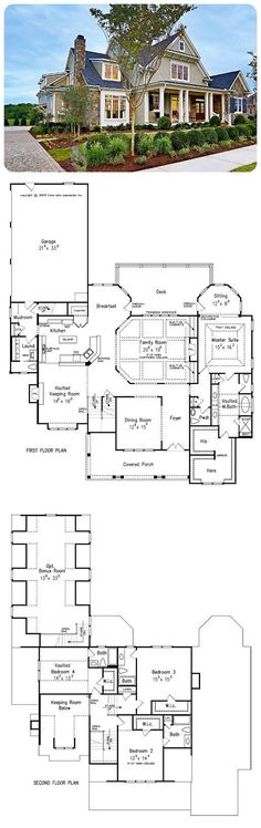 Northfield Manor - a # FrankBetz Plan Generous . - - Northfield Manor - a # FrankBetz Plan Generous . Dream House Plans, House Floor Plans, My Dream Home, Floor Plans 2 Story, Craftsman Floor Plans, House Plans 2 Story, Best Decor, House Blueprints, Farmhouse Plans