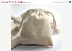 24 Small Plain Muslin Favor Bag Package - Muslin Drawstring Cotton Wedding Favor Bags 3x4 - DIY Wedding  - Supply Crate. $9.00, via Etsy.