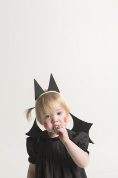 baby bat costume with cardboard wings and bat ears | mer mag for Kids 21