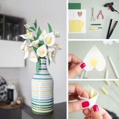 Come realizzare fiori in gomma crepla decisamente scenografici. Basteranno pochissimi minuti per ottenere un bellissimo bouquet di calle! Felt Flowers, Crafts For Kids, Candy, Homemade, Rose, Tutorial, Diy Ideas, Bouquet, Crafting