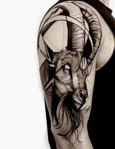 Best Capricorn Tattoo Designs 38 Best Capricorn Tattoos Designs and Ideas with M… – Tattoo Pattern Tattoos Arm Mann, Body Art Tattoos, Sleeve Tattoos, Cool Tattoos, Henna Tattoos, Tattoo Goat, Ram Tattoo, Tattoo Arm, Capricorn Tattoo