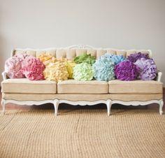 Ruffle Rose Pillow $29