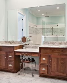 Bathroom Makeup Vanities bathroom vanity with makeup counter | granite bathroom vanity