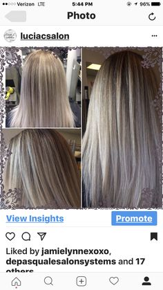 Beautiful blonde by Carolyn! #balayage #beautiful #blonde  #condition #lakmeusa #lovewhatido #highlights #tuesday #luciacsalon #denville