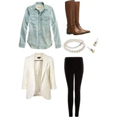 """Cute Fall Outift"" by kbencar on Polyvore"