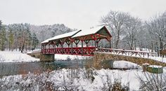 Covered Bridge Over Tellico River In Tennessee