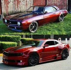 Nice. Two Camaro's wearing two of my favorite paint colors.