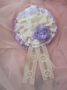 Lavender Rose Cult party kei Brooch - Thumbnail 1