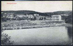 STENKJÆRFOSSEN. Steinkjer i Nord-Trøndelag Bebyggelsen. Utg/foto P. H. Bjerings EFTF / Odin Pedersen postgått 1907
