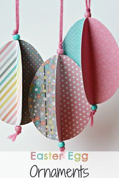 The Life of Jennifer Dawn: Easter Egg Ornament Craft ... use as gift tags for Easter teacher gifts!