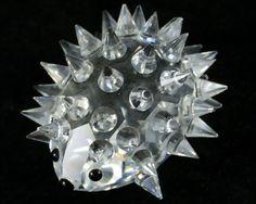 Swarovski Crystal Figurines | Vintage Swarovski Crystal Hedgehog Figurine by Vintage4Vintage