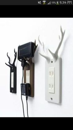 Antlered phone cradle...what!?