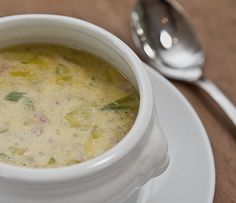 The leek soup with g