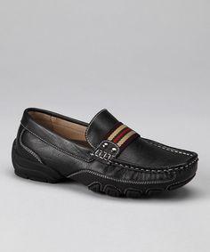 Black & Beige Stripe Loafer  #zulily #fall