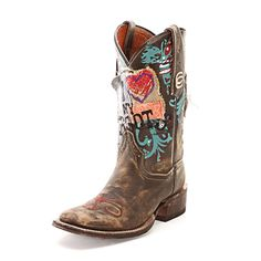 For that rustic appeal. Dan Post Love My Boots Cowgirl Boots. #CowboyCupidBeMine