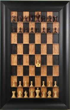 Vertical Chess--awesome. I think it would make great wall-art that has purpose, especially in a possibly chess-themed living room like ours!
