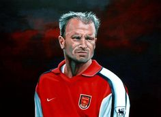 Dennis Bergkamp Arsenal Painting  - Dennis Bergkamp Arsenal Fine Art Print