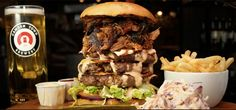 Egalitie, Fraternity, And A Slice Of Cheddar: On London Burgers   - Who fancies taking on the Devastator burger at Red Dog Saloon in Hoxton Square - London?