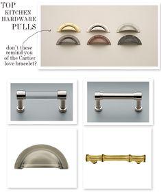 Top: Omnia/ Clockwise from top left: Restoration Hardware/Restoration Hardware/Baldwin/Shower Rods Etc