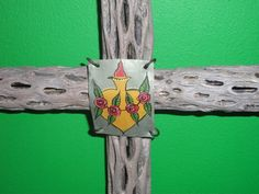 Cholla Wood Cross  Sacred works of the High Desert by CathyDeLeRee, $40.00
