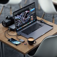 Editing On-The-Go is Now Easier Than Ever Before 📷 - Tecnologia Computer Desk Setup, Gaming Setup, Pc Setup, Room Setup, Home Office Setup, Home Office Design, Iphone Accessories, Computer Accessories, Accessoires Iphone