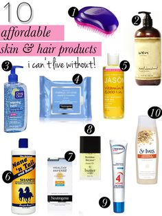 10 SKIN & HAIR CARE PRODUCTS I CAN'T LIVE WITHOUT