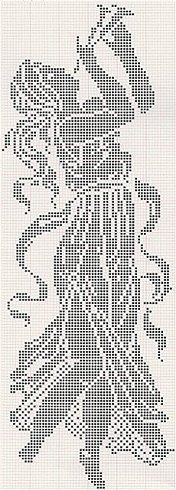 Click through for more charts - isabel cristina lopez marin - Picasa Web Albums Crochet Home, Crochet Crafts, Crochet Projects, Lace Patterns, Embroidery Patterns, Crochet Patterns, Cross Stitch Designs, Cross Stitch Patterns, Cross Stitching