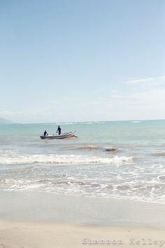 the beach in Jacmel, Haiti
